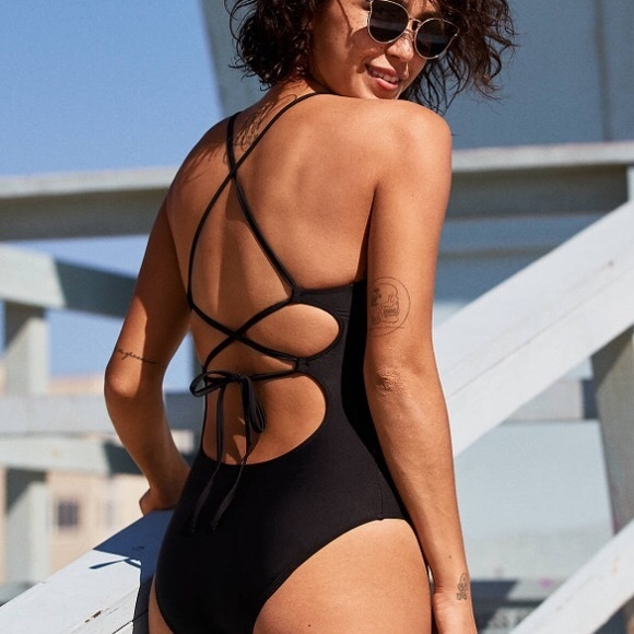 6e5361fd203 aerie Swim | Tie Back One Piece Suit | Poshmark